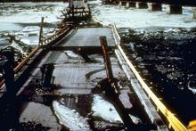 Alaskan earthquake road damage 1964