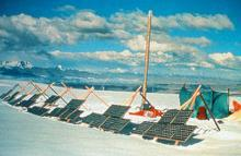 Solar Powered drills at Quelccaya ice caps