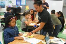 GO! Initiative geoscientists at Mary Williams Elementary School (Image credit Leanne Thomas)