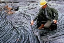 Hawaii lava sampling