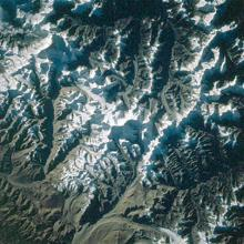 Satellite image of Mt. Everest