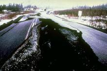 1964 Alaskan earthquake alluvium deposits