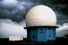 Doppler Radar installation in Oklahoma