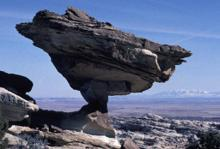 Balanced rock at San Rafael reef